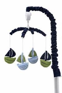 Nautica Kids Sailboat Sailor Musical Crib Mobile Zachary Baby Boy Newborn Git