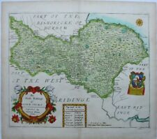 Antique map of Yorkshire North Riding by Richard Blome 1673