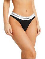 Calvin Klein Women's Underwear Modern Cotton Thong in Black Size M