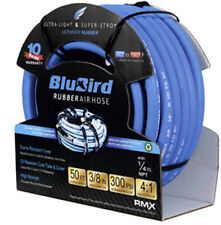 "Blubird High Flex, Heavy Duty, 100% Rubber, 300 PSI Air Hose 3/8"" x 25'"