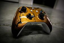 Custom Painted Xbox One S Controller - Copper Bullet with Splatter