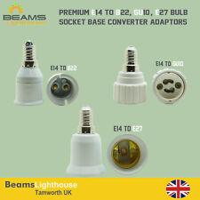 E14 To GU10 B22 E27 Light Socket Adaptor Base Converter Extender Lamp Holders