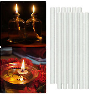 12pcs Replacement Fiberglass Wicks Candle Wine Bottle Wick for Tiki Torch