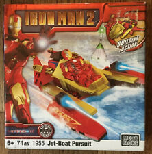 Mega Blocks Iron Man 2 Jet Boat Pursuit 1955 Never Opened