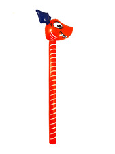 Red Inflatable Dinosaur Stick Hobby Horse Dragon Race Game Kids Blow Up Toy