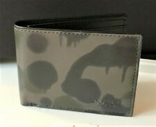 COACH x Baseman 'Wild Beast Camo' Men's Printed Leather Slim Billfold Wallet NWT
