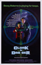 CLOAK & DAGGER (1984) ORIGINAL MOVIE POSTER  -  ROLLED