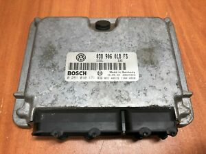 Volkswagen Passat B5 Engine Control Unit Motor Ecu Bosch 0281010171 038906018fs