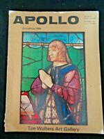 Apollo Art Magazine 1966 Christmas Conradin Bible Chinoiserie Sevres Jewellery