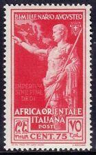AFRICA ORIENTALE ITALIANA 1938 - OTTAVIANO AUGUSTO - C. 75 - MNH