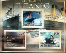 More details for togo ships stamps 2011 mnh rms titanic launch centenary boats 3v m/s