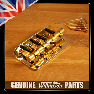 NEW Wilkinson Gold WBBC Bass Bridge, with Brass Saddles, Precision / Jazz