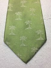 TOMMY BAHAMA MENS TIE GREEN WITH PALM TREES 4 X 57 NEW WITHOUT TAGS