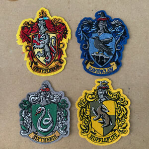 1x Patch Potter Slytherin Hufflepuff Ravenclaw Gryffindor Embroidered Iron #1393