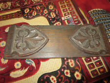 Antique Hand Carved Black Forest Wood Expanding Book Rack Display