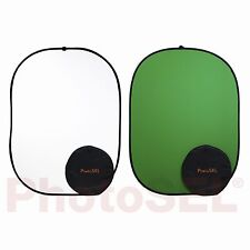 PhotoSEL BD113WG Chroma Key Green Screen White Collapsible Background 1.5m x 2m