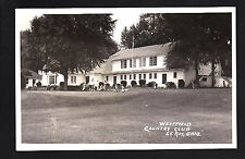 Le Roy Ohio OH c1950 RPPC Westfield Country Club, Golfers, Clubs, Carts to Go