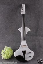 4/4 Electric violin Big jack White Color Solid wood Violin case bow Yinfente
