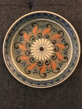Handpainted French Ceramic Plate 9� Beautiful W Stand Good Condition