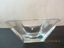 Tiffany & Co. Crystal Art Glass Bowl-Metropolis Pattern-Square-Discontinued
