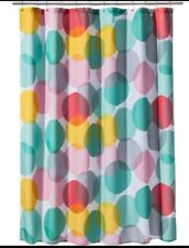 Circo Overlapping Circles Multi Color Shower Curtain Green Yellow Pink NWOT