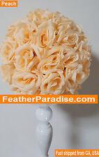 Peach Rose Flower Ball Pomander Wedding Ball Kissing Ball 11-12 inches