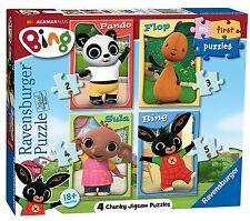 Ravensburger Mi Primer Rompecabezas, Bing Bunny (2, 3, 4 y 5) Rompecabezas