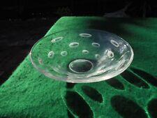 VINTAGE ORREFORS SWEDISH CRYSTAL GLASS SERVING BOWL FISH EYE DESIGN