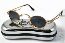 Hi Tek small round oval gold vampire cosplay sunglasses sci fi men Steampunk