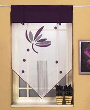Scheibengardine Kuvert Kurzgardine Vorhangspitze 2146 90x90 cm Lila Weiß