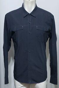 7 Diamonds Black & White Stripe Chest Pockets Btn Up 2XL Mens Cotton Blend Shirt