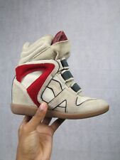 ISABEL MARANT SIZE 36 UK 3 BEKETT WEDGE MULTI TRAINER SNEAKER BOOTS AUTHENTIC