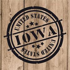 Vinilo de Corte Iowa Pegatina Iowa USA United States 10 cm Adhesivo Pared Moto