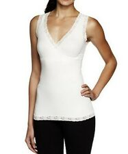 Kathleen Kirkwood Ivory Cami with Lace Trim Down for Good Shaping A234056 Size M