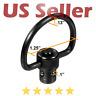 "UTG Rifle Tactical Push Button QD Sling Swivel 1.25"" C-Shape Loop Steel Black"