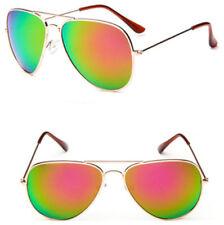 Mohawk Piloto Aviador Gafas de sol COBRIZO con Rosa/Verde lentes UV400 y174