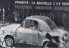 PUBLICITE ADVERTISING 074 1957 LA NOUVELLE 2 CV VESPA automobile 6 pages