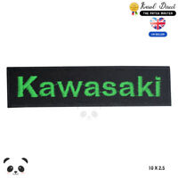 Kawasaki Motor Bike Embroidered Iron On Sew On PatchBadge For Clothes etc