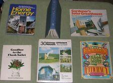 Lot Energy Solar Wind Alternative Power Greenhouse Home Light Toilet SEVEN BOOKS
