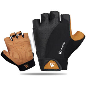 Cycling Gloves Anti-Sweat Bicycle Gloves Anti-Slip Breathable Half Finger Gloves