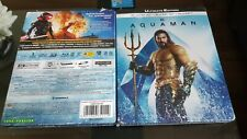 Aquaman 4K UHD + 3D + 2D Blu-Ray Limited Edition Exclusive Steelbook New,In Hand