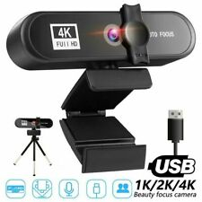 HD WebCam Kamera Autofokus mit Mikrofon Drehbar 1080P/2K/4K WebCam USB 3.0 fürPC