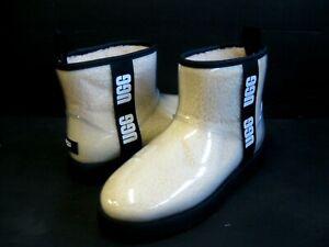 UGG CLASSIC CLEAR  MINI WOMEN ANKLE BOOTS NATURAL /BLACK US 10 /UK 8 /EU 41
