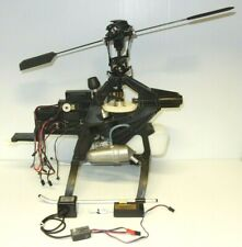 THUNDER TIGER RAPTOR 50 RC HELI FRAME W/ NEW OS MAX SX KYOSHO ~ PARTS OR REPAIR