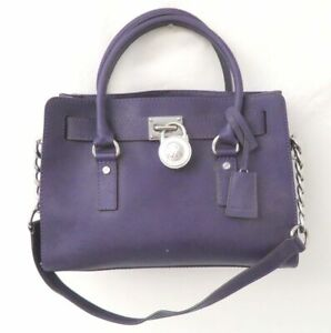 Michael Kors Purple Saffiano Leather Satchel Purse