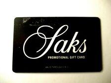 SAK'S GIFT CARD  $75.00  VALID THRU 5/8/2021