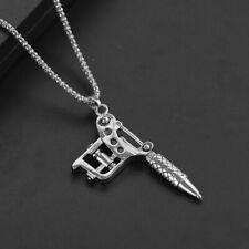 Mini Chain Necklace Punk Style Women Men Necklace Pendant Jewelry Tattoo Machine