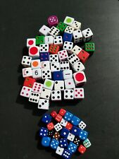 Euc! Rare! Destash Lot Of 76 Dice Variety For Collage Mixed-Media Crafts