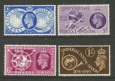 GB KGVI 1949 UPU Universal Postal Union Complete Set SG499 - 502 Unmounted Mint
