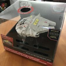 Star Wars Millennium Falcon Alarm Clock May The Schwartz Be With You NEW IN BOX!